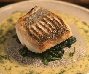 Roast Cod with Citrus Beurre Blanc and Winter Ratatouille by Home